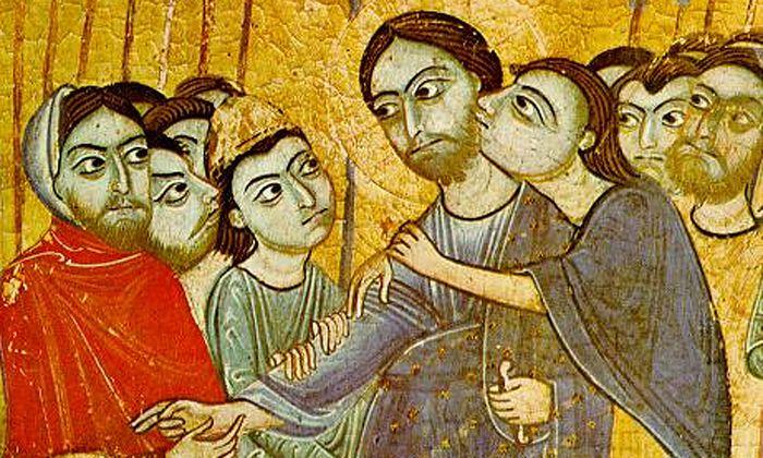 Judaskuss im Garten Gethsemane: das Signal für die Festnahme Jesu.