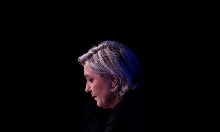 Marine Le Pen liegt in den Umfragen für den ersten Wahlgang vorne.