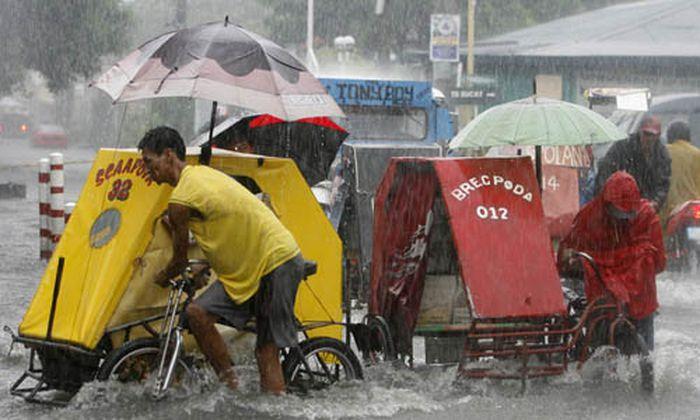Monsun-Regenfälle in Manila