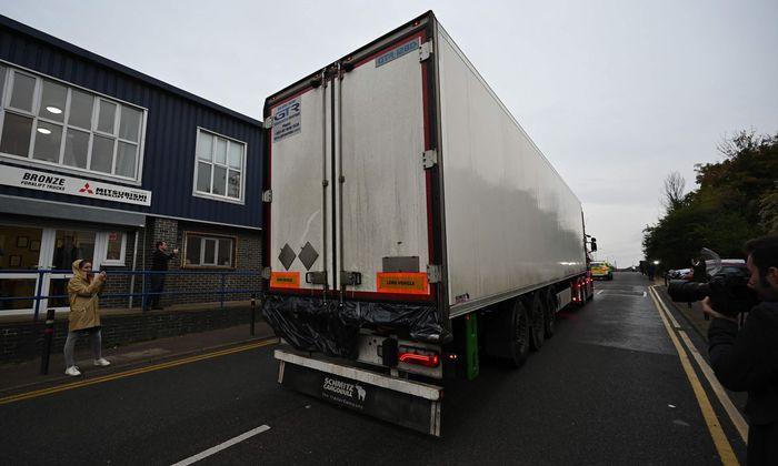 In diesem Lastwagen fand die britische Polizei die Leichen von 39 Menschen.