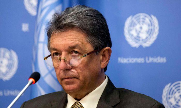 Der ukrainische Botschafter bei der UNO, Juri Sergejew.