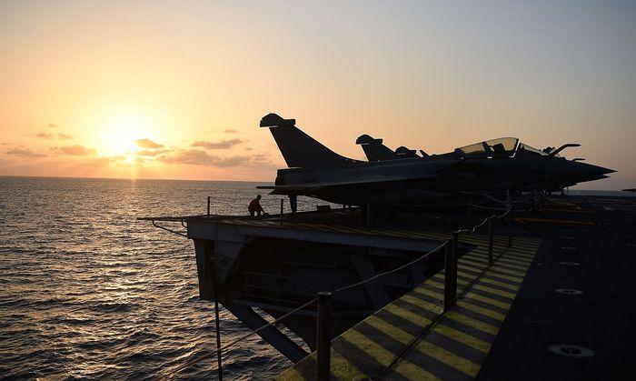 Frankreich baut Präsenz im östlichen Mittelmeer aus (Bild: Rafale-Kampfjet auf dem Träger Charles de Gaulle.
