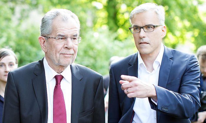 Alexander Van der Bellen und Wahlkampfleiter Lothar Lockl