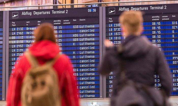Streik der Flugbegleiter bei der Lufthansa