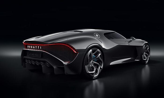 Einzelstück Bugatti La Voiture Noire: Huldigung mit leicht sinistrem Touch, enthüllt Anfang März in Genf.