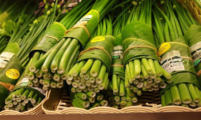 Bananenblätter als Alternative zu Kunststoff