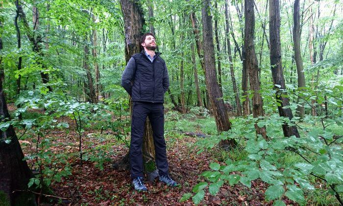 Martin Kiem zeigt (in Wien), was Waldbaden in Südtirol kann.