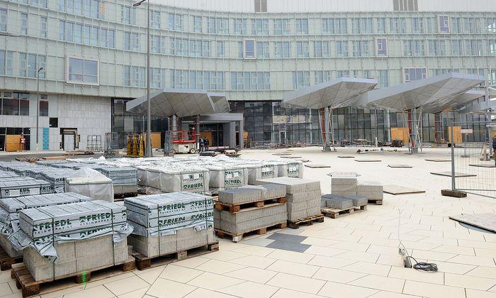 Archivbild: Die Baustelle des Krankenhauses Nord vor etwa zwei Jahren