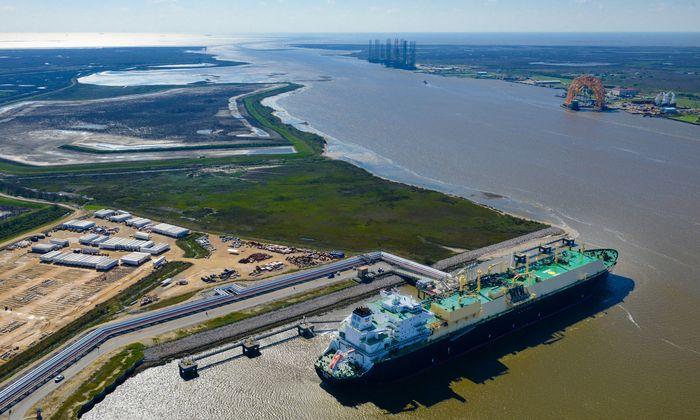 LNG-Hafen im texanischen Sabine Pass.