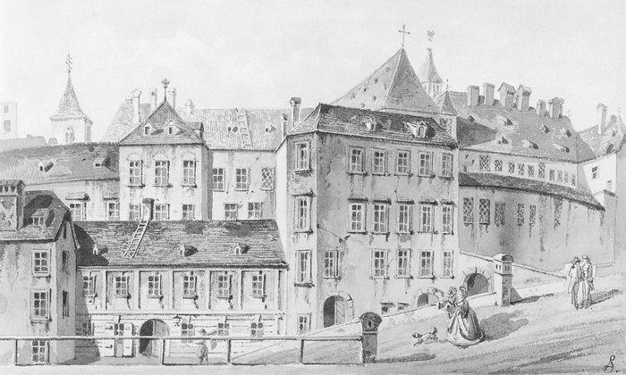Ehemaliges Wiener Salzamt zwischen Donauhafen und Ruprechtskirche.