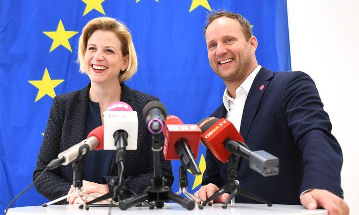 Beate Meinl-Reisinger und Matthias Strolz