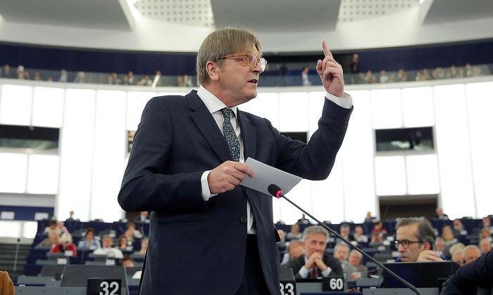 Guy Verhofstadt ist im EU-Parlament Fraktionschef der Liberalen.
