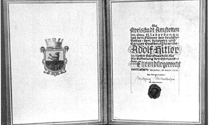 Hitler nicht mehr Ehrenbürger von Amstetten