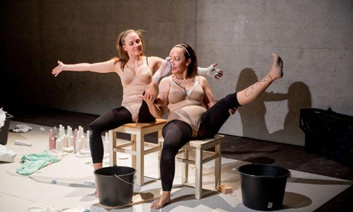 """Österreichische Erstaufführung von Sibylle Bergs so stoischen wie verstörenden Monologen """"Missionen der Schönheit"""" im Werk X."""
