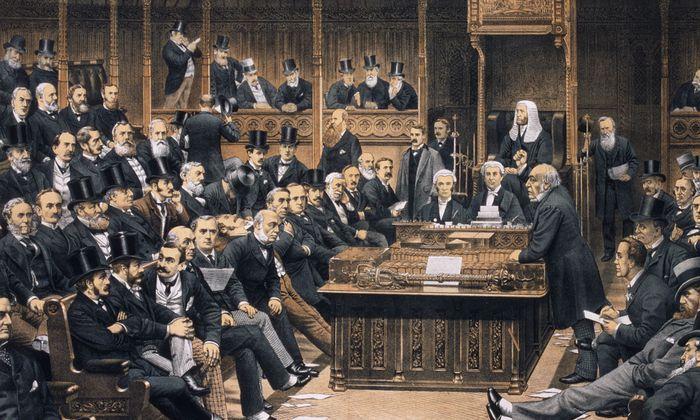Kontinuität durch Jahrhunderte: Das britische Unterhaus (hier: William Gladstone, 1887) fasziniert durch seine Anachronismen.