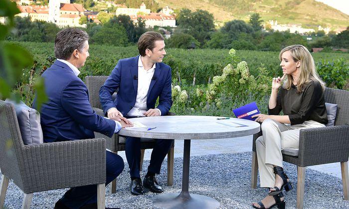 Bundeskanzler Sebastian Kurz beim ORF-Sommergespräch