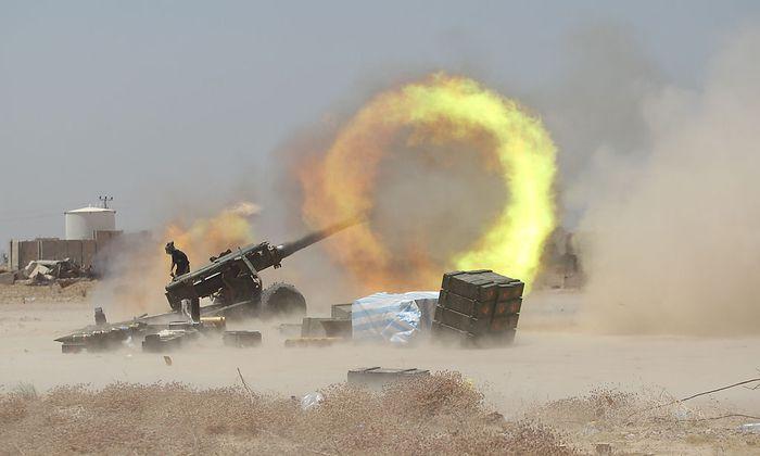 Die irakischen Truppen haben sich in den vergangenen Tagen bis zur IS-Hochburg Falluja durchgekämpft.