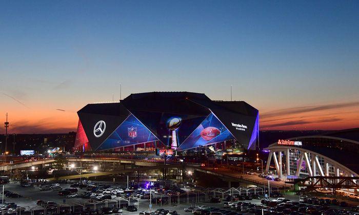 Atlantas Sportarena, ein wahres Prunkstück der US-Architektur.