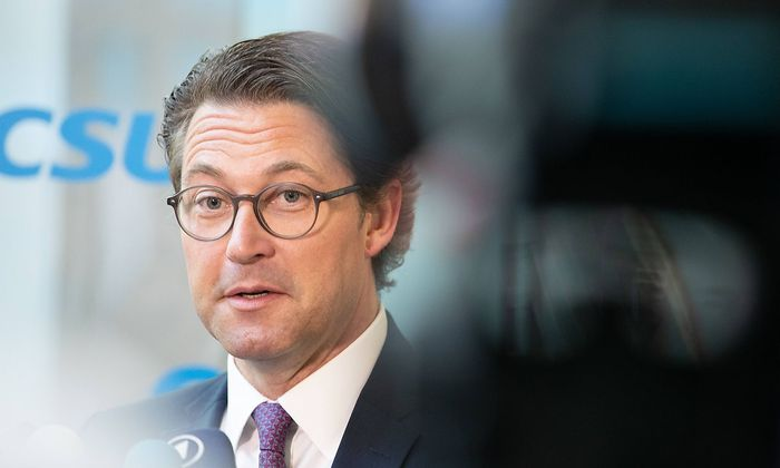 CSU Vorstandssitzung mit Andeas Scheuer und Markus Soeder Bundesverkehrsminister Andreas Scheuer sp