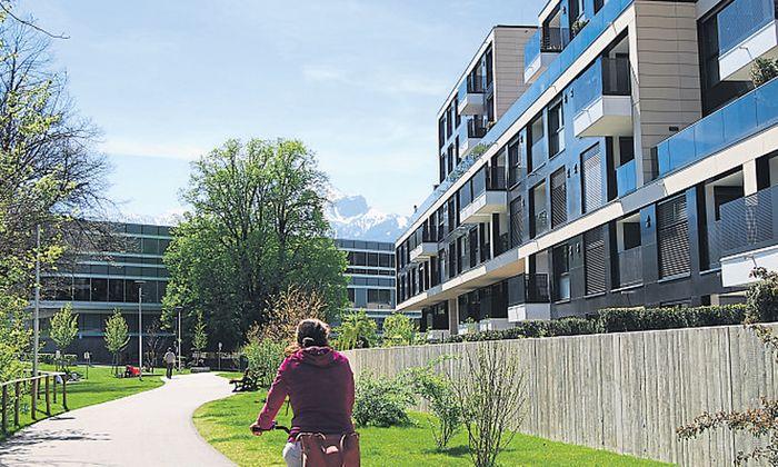 Mit einer App kann die Innsbrucker Architektur erkundet werden.