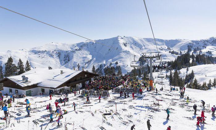 Restaurant Sonnenrast im Skigebiet Kitzbühel
