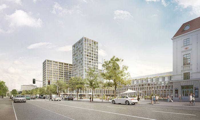 Ein Entwurf für das umstrittene Bauprojekt am Heumarkt