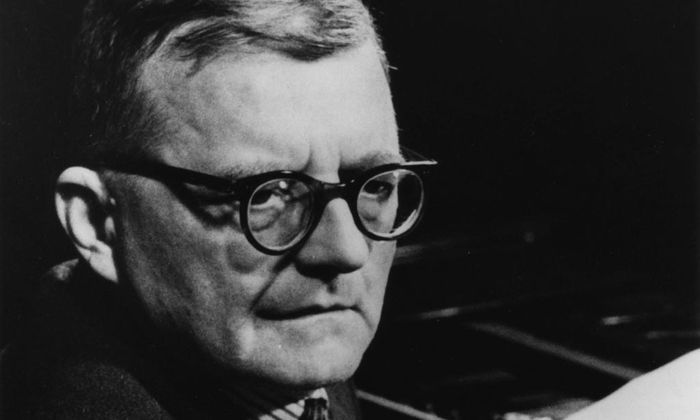 Photograph of Dmitri Dmitrievich Shostakovich 1906 1975 was a Russian composer and pianist and a