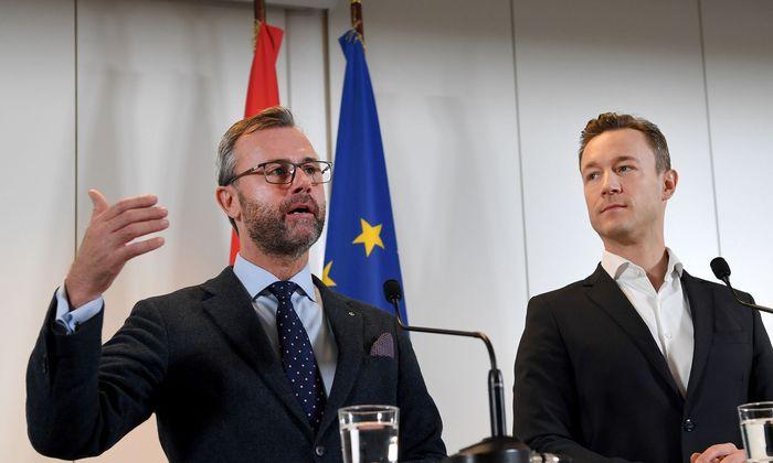 Norbert Hofer (l./FPÖ) und Gernot Blümel (ÖVP)