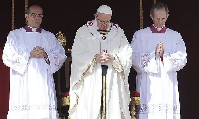 Der Papst bei seiner Amtseinführung