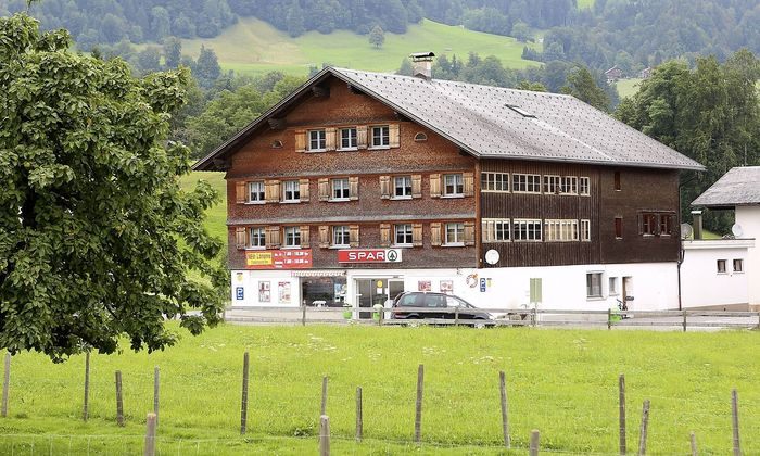 Spar Gesch�ft in Schwarzenberg im Bregenzerwald Vorarlberg PUBLICATIONxINxGERxSUIxAUTxHUNxONLY 1065