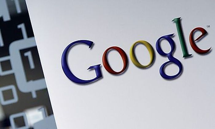 The Google logo is seen at the Google headquarters in Brussels, Tuesday March 23, 2010. Google Inc. h
