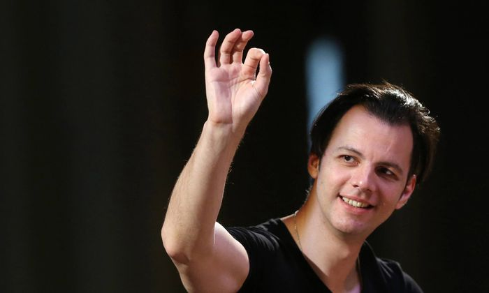 MOSCOW RUSSIA JULY 2 2016 Artistic director of Perm Opera and Ballet Theatre conductor Teodor