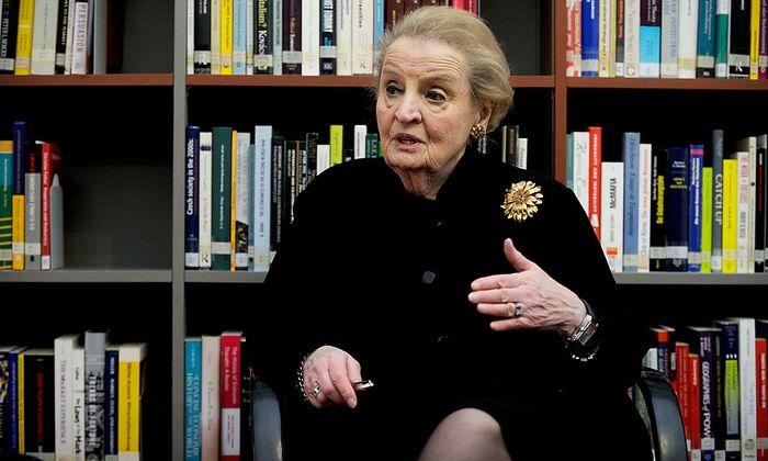 Madeleine Albright ist in Wien zu Gast.