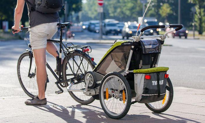 Fahrradanh�nger f�r Kindertransport