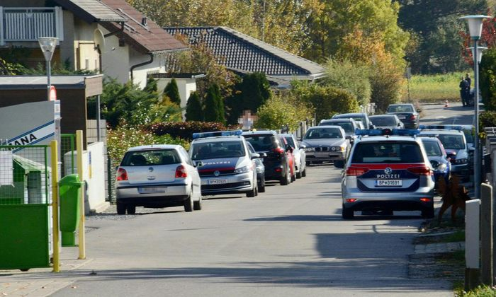 In dieser Reihenhaussiedlung in Kottingbrunn hat ein Mann seine Frau und ihre beiden Kindern getötet.