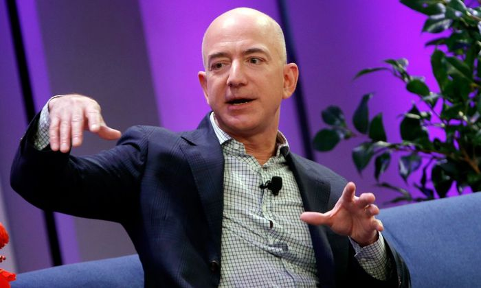 Amazon President, Chairman and CEO Bezos speaks at the Business Insider's 'Ignition Future of Digital' conference in New York City in this file photo