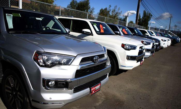 Toyota SUVs waren im Jänner nicht so gut zu verkaufen.