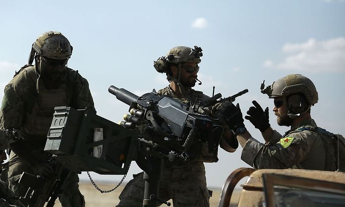 US-Spezialkräfte sind in Syrien auch bei kurdischen Kämpfern unterstützend im Einsatz, was der Türkei gar nicht gefällt.
