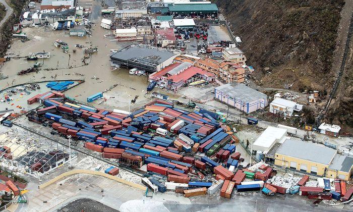 Verwüstung im niederländischen Teil der Karibikinsel Saint-Martin