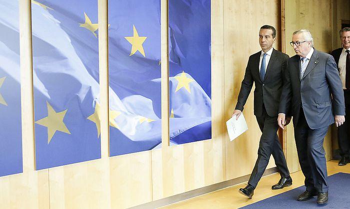 Christian Kern bei seinem Antrittsbesuch in Brüssel.