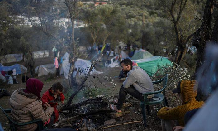 Das Flüchtlingslager Moria auf der griechischen Insel Lesbos.