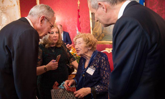 Van der Bellen beim Empfang des Jewish Welcome Service