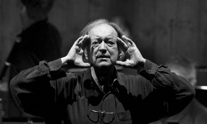 File photo of maestro Harnoncourt during a dress rehearsal of Mozart´s opera ´Die Zauberfloete´ in Salzburg