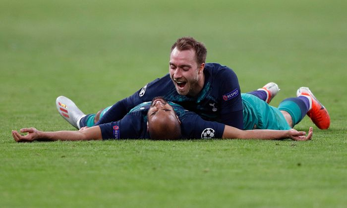 Haben Salzburg erlöst: Tottenhams Moura (u.) und Eriksen.