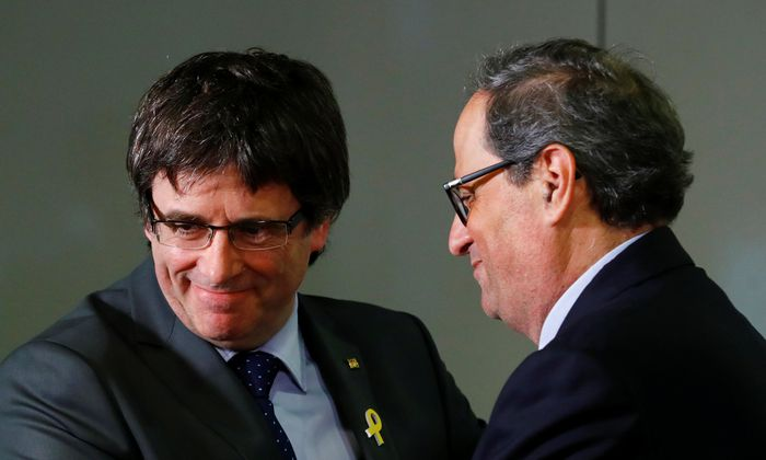 Carles Puigdemont und Quim Torra.