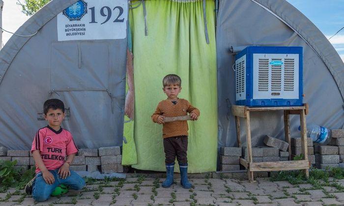Turkey Shingal Camp 1500 Ezidi refugees The Shingal Camp close to Diyarbakir a Kurdish city in Tu