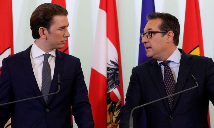 Bundeskanzler Sebastian Kurz und Vizekanzler Heinz-Christian Strache.