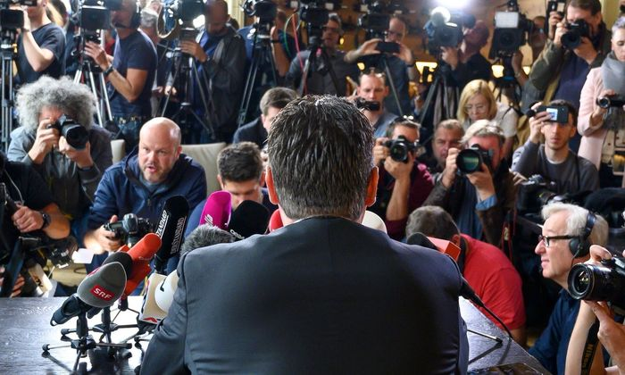 Archivbild: Heinz-Christian Strache, als er seinen völligen Polit-Rückzug verkündete.