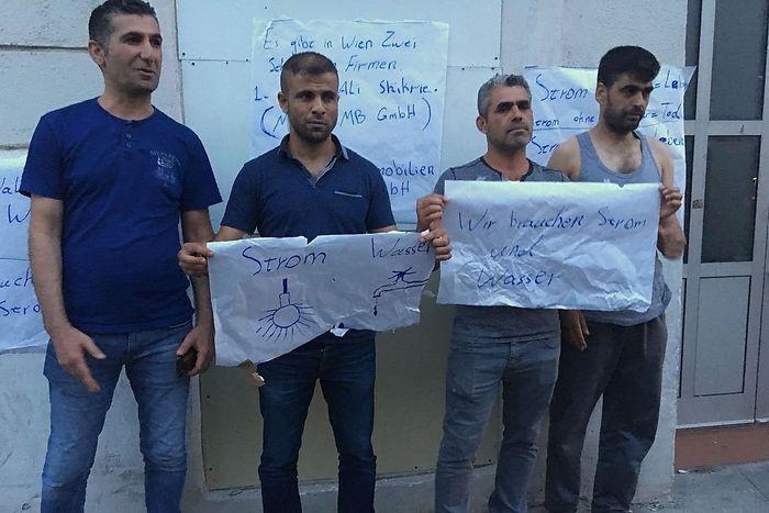 Die Bewohner der Maroltingergasse protestieren
