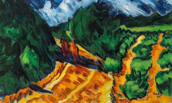 """Der Salzburger Thomas Salis zeigt auf der Tefaf die expressionistische """"Landschaft mit Pferd und Reiter"""" von Max Pechstein."""
